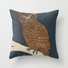 Boobook Owl Throw Pillow