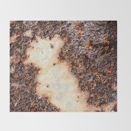 Cool brown rusty metal texture Throw Blanket