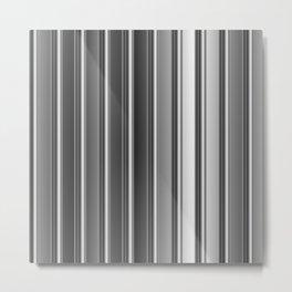 Aluminum silver stripe texture Metal Print