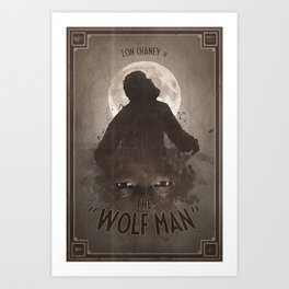 Horror Classics - The Wolf Man Art Print