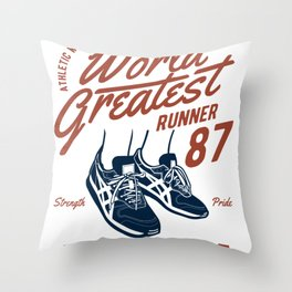 Greatest Man Throw Pillow