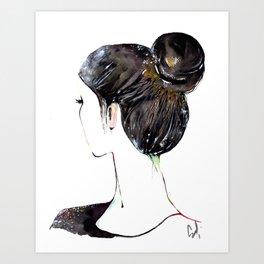 Chignon mignon Art Print