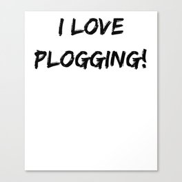 I love Plogging! Minimalist Typography Canvas Print