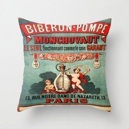 Vintage poster - Biberon-Pompe Throw Pillow