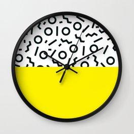 Memphis pattern 46 Wall Clock