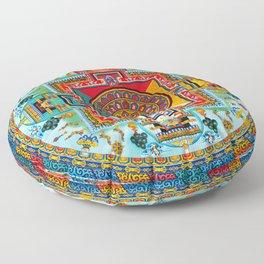 Buddhist Medicine Mandala 2 Floor Pillow
