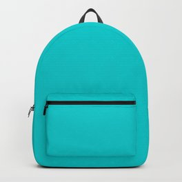 Dark Turquoise - solid color Backpack