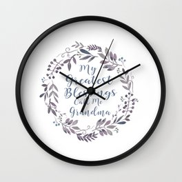 Love to Grandma Wall Clock