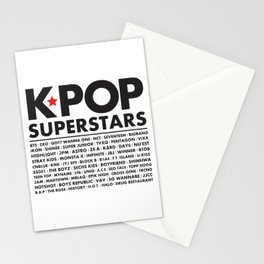 KPOP Superstars Original Boy Groups Merchandse Stationery Cards