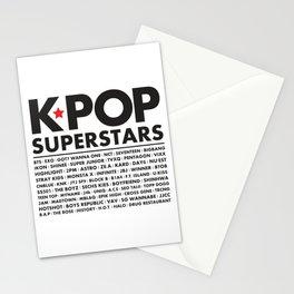 KPOP Superstars Original Boy Groups Merchandse Stationery Cards