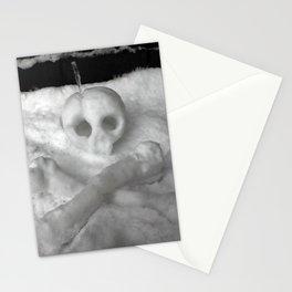 Snow Skull Stationery Cards