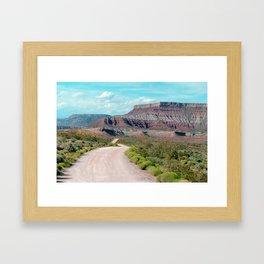 Dirt Road Home (La Verkin, Utah) Framed Art Print