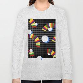 Memphis Grid & Rainbows Long Sleeve T-shirt