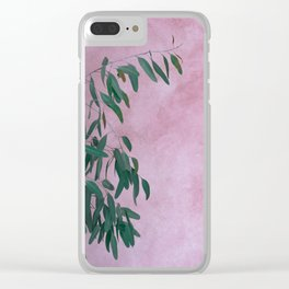 Pink Eucalypt Clear iPhone Case