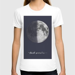 First Quarter Moon on Navy English T-shirt