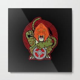 Battlecat of Fortune Metal Print