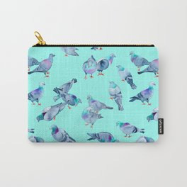 Flock of Pigeons (Blue) Carry-All Pouch