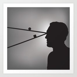 The Prisoner is Being Tested Art Print