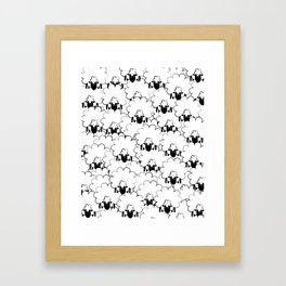 Count Sheep 1 Framed Art Print