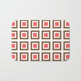 Chocolate Brown + Coral: Pattern No. 13B Bath Mat