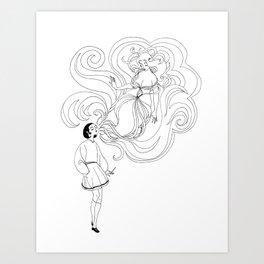 Cigarette Genie Art Print