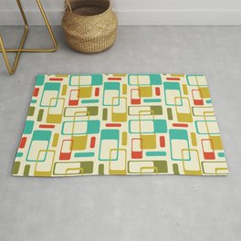 Mid-Century Modern / Space-Age Geometrics in Bright Colors Rug