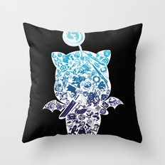 Moogleverse (blue) Throw Pillow
