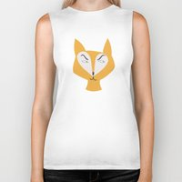 mr fox Biker Tanks featuring Mr Fox by Lydia Coventry
