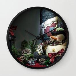A Christmas Look Wall Clock