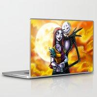 jack skellington Laptop & iPad Skins featuring Jack Skellington With Sally Figurine by Andrian Kembara