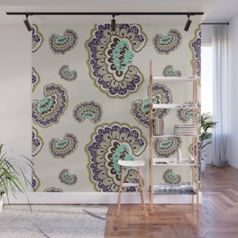 Fanned Feather Pattern - Original Wall Mural
