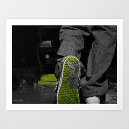 poop shoe Art Print