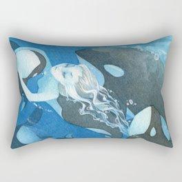 Orca Guardian Mermaid Rectangular Pillow