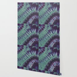 Fractal Tie Dye Turquoise Purple Blue Wallpaper