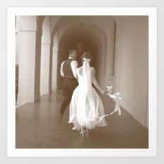 Runaway Wedding Art Print