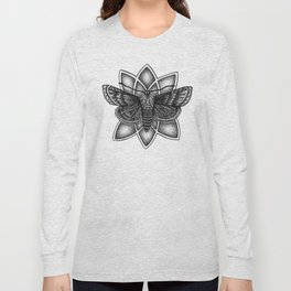 Moth Mandala Long Sleeve T-shirt