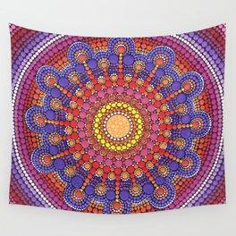 Jewel Drop Mandala Wall Tapestry