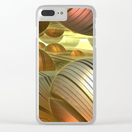 Golden Globes / /  #fractal #fractals #3d Clear iPhone Case