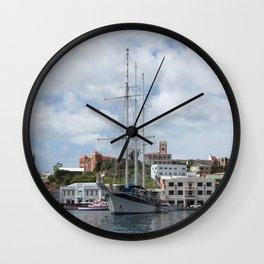 Sailing Boat at Grenada Wall Clock