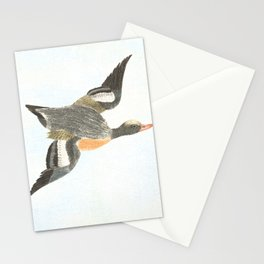 Duck landing Stationery Cards