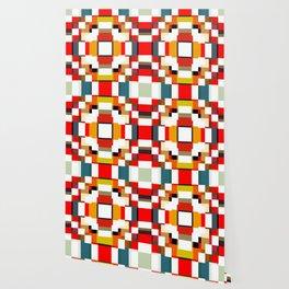 multicolored spatial geometric shellycoat Wallpaper