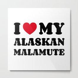 Alaskan Malamute Metal Print