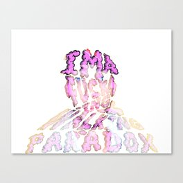 I'm a F@$%#! walking paradox... Canvas Print