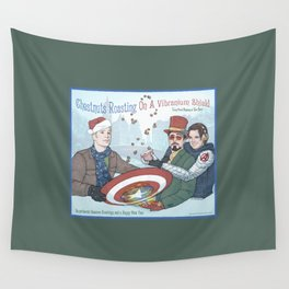 Superheroic Seasons Greetings (Chestnuts Roasting) Wall Tapestry
