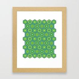 Green Hex Framed Art Print