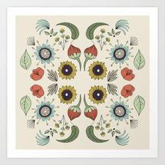 Flora Pattern I Light Art Print