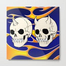 Hell Skulls Metal Print