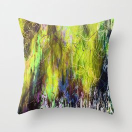 Sketchy Splashed Paint Throw Pillow