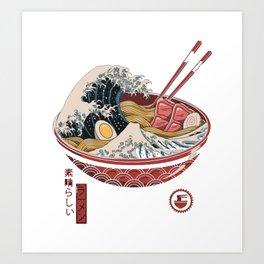 Great Ramen Wave Art Print