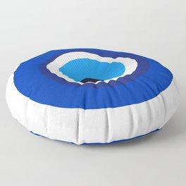 evil eye symbol Floor Pillow